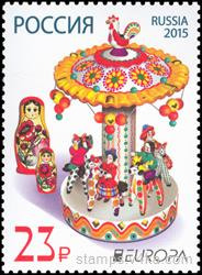 "Dymkovskaya toy ""Carousel"" and dolls. The issue of ""Europe"""